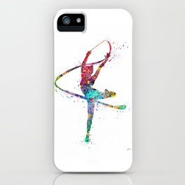 Rhythmic Gymnastics Print Sports Print Watercolor Print iPhone Case