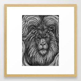 Lion Guardian Framed Art Print