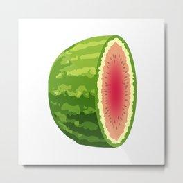 Water Melon Cut In Half Metal Print