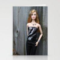 divergent Stationery Cards featuring Divergent Tris Barbie by Pam Gilfillen