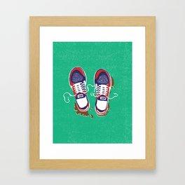 Nike trainers Framed Art Print