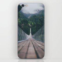 Crossing bridges. iPhone Skin