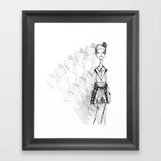 GrungeGirl. Framed Art Print