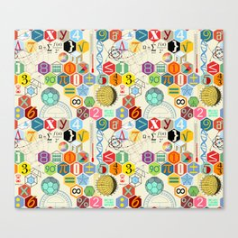 Math in color (little) Canvas Print