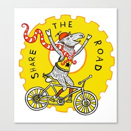 Share the Road with Bikes! Canvas Print