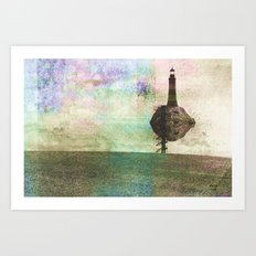 the only place to be high Art Print