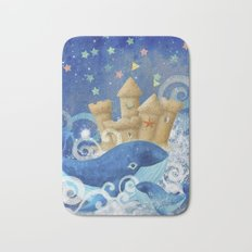 Sandcastle Waves Whales Bath Mat