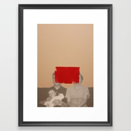 Father Mother Son Framed Art Print