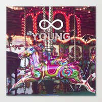 forever young Canvas Prints featuring Forever Young by farsidian