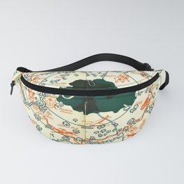 Vintage Illustrated London Map Fanny Pack