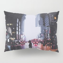New York City Silhouette Pillow Sham