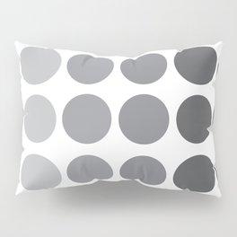Monochrome Grey Circles Pillow Sham