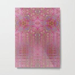 Rippling Pink Metal Print