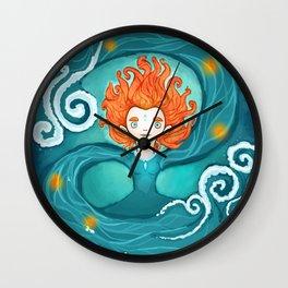 Water Goddess Wall Clock
