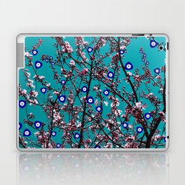 Cherry Blossoms Evil Eyes Laptop & iPad Skin