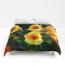 Yellow Flowers Scoop Petals Comforters