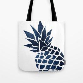 Pineapple, Big Blue, Denim Navy Tote Bag