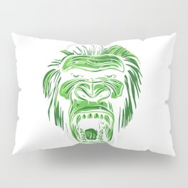 GORILLA KING KONG - Green Pillow Sham