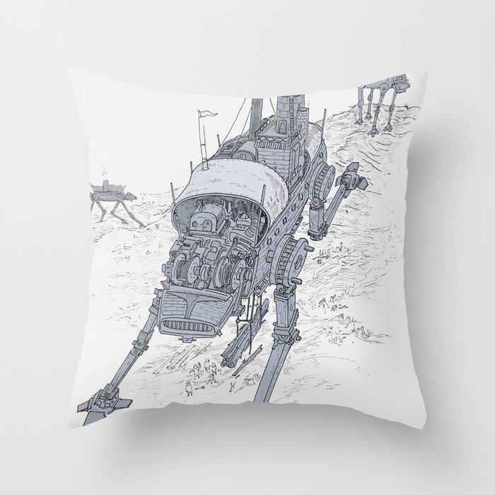 an even longer time ago Throw Pillow