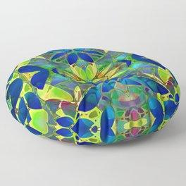 Floral Fractal Art G373 Floor Pillow