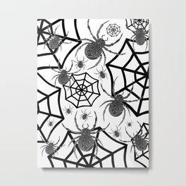 Black And White Halloween Metal Print