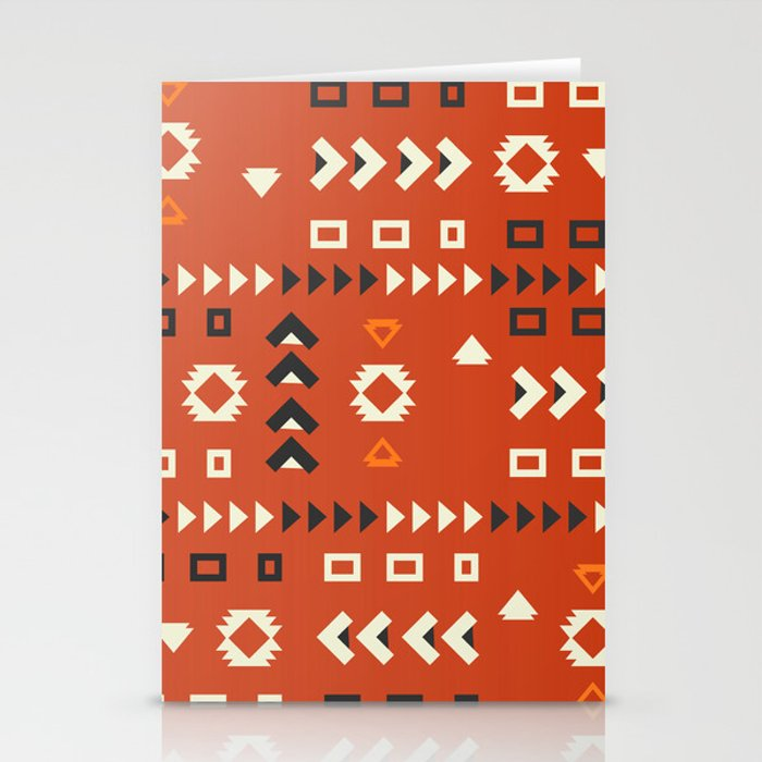 American native shapes in red Stationery Cards