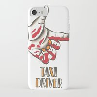 taxi driver iPhone & iPod Cases featuring Taxi Driver #2 by @VEIGATATTOOER