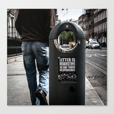 Littering is disgusting... so are those responsible  Canvas Print