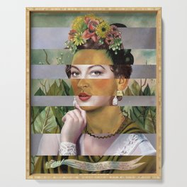 Frida's Self Portrait with Hand Earrings & Ava Gardner Serving Tray