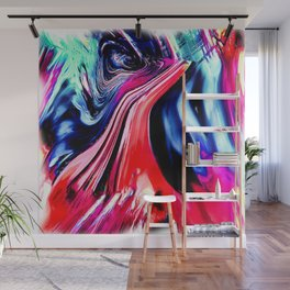 lava meets the sea abstract oil painting Wall Mural
