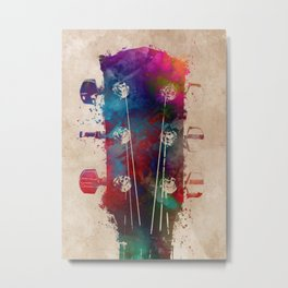 guitar art 5 #guitar #music Metal Print