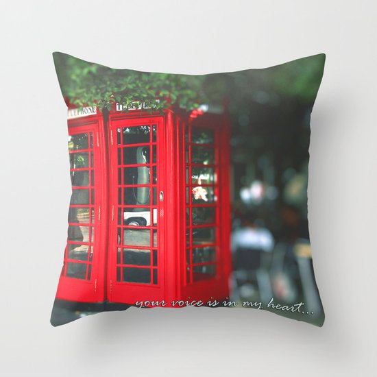 Longing for your voice Throw Pillow