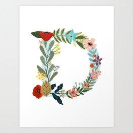 Monogram letter D Art Print