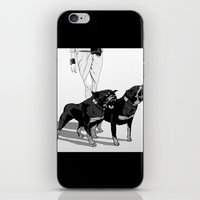 rottweiler iPhone & iPod Skins featuring Fashion Rottweiler  by Gregory Casares