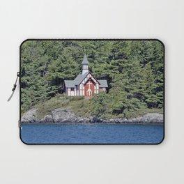 St Isaac Jogues Chapel, Hecker Island (Lake George, NY) Laptop Sleeve