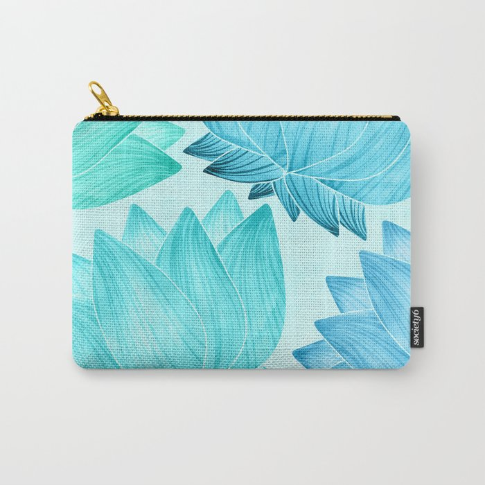 Lotus Love II / Zen Teal Palette Carry-All Pouch