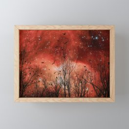 Red Night Framed Mini Art Print