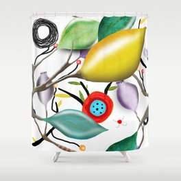 Cinque Terre - Lemons Lemon - Italian Riviera - Limoni Lemon Pattern Home Decor Shower Curtain