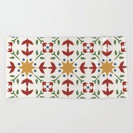 Starflower Quilt Pattern Beach Towel