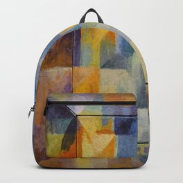 "Robert Delaunay ""Simultaneous Windows onto the City"" (1st Part, 2nd Motif, 1st Replica) Backpack"