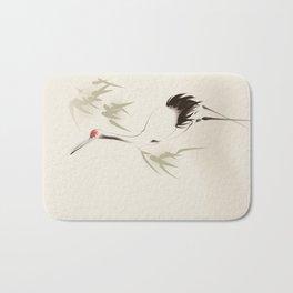 Oriental Red-Crowned Crane 001 Bath Mat