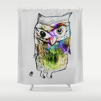 alone Shower Curtains featuring Alone by Organic Mind