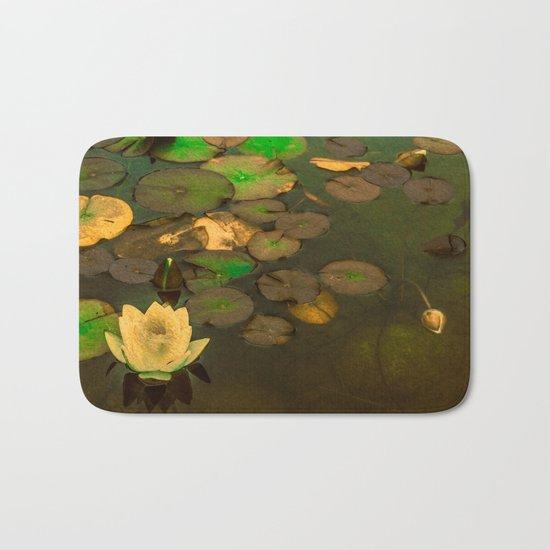 Summer Waterlily Pond Bath Mat