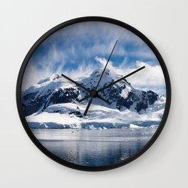 Snowtop Lake Wall Clock