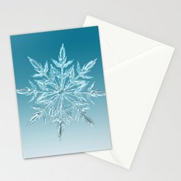 Blue Green Ice Crystal Stationery Cards