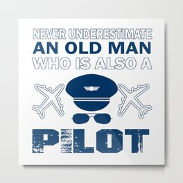 Old Man - A Pilot Metal Print