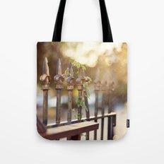 Bokeh and Fleur de Lis Tote Bag