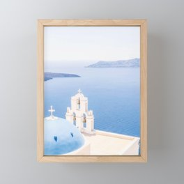 460. Magical Blue Church, Santorini, Greece Framed Mini Art Print