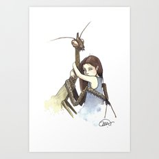 My Mantis Friend Art Print