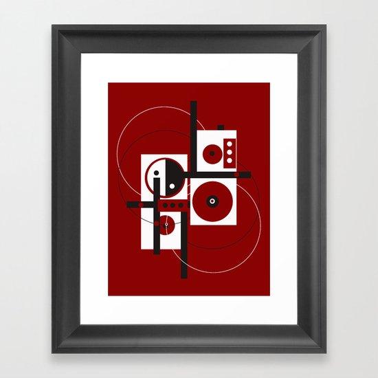 Geometric/Red-White-Black 2 Framed Art Print